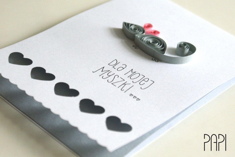 kartka z myszką dla dziewczyny
