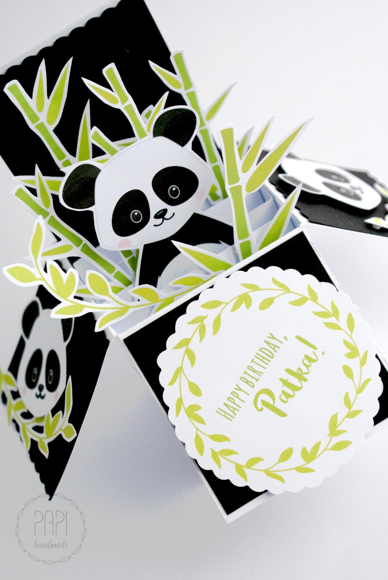 card in a box panda zamówienie