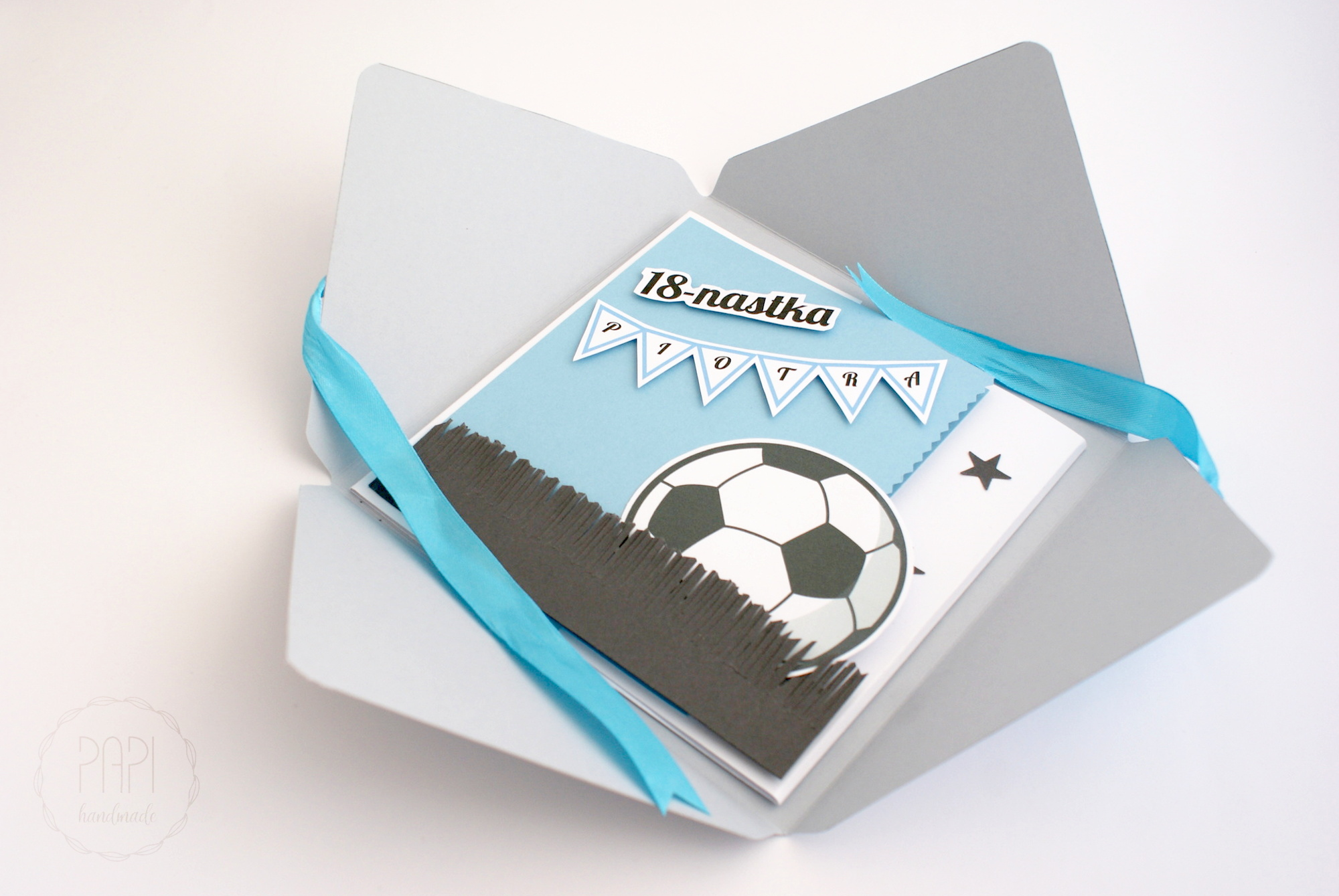 kartka dla kibica lech poznań handmade