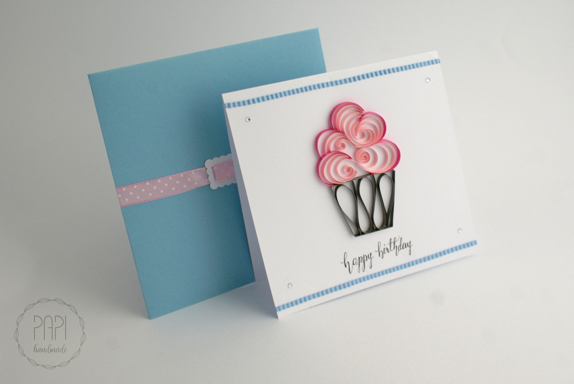 kartka urodzinowa happy birthday quilling