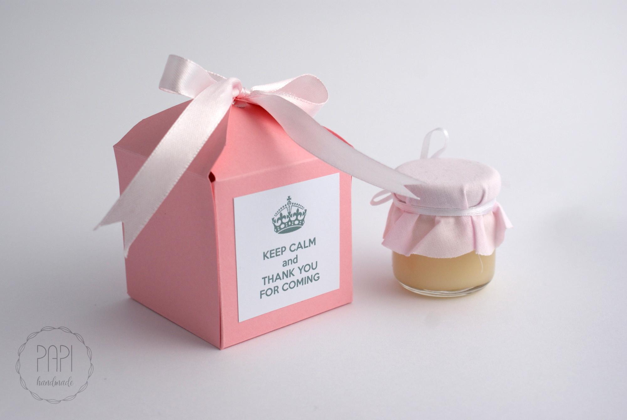 pudełka z podziękowaniem na ślub ręcznie robione
