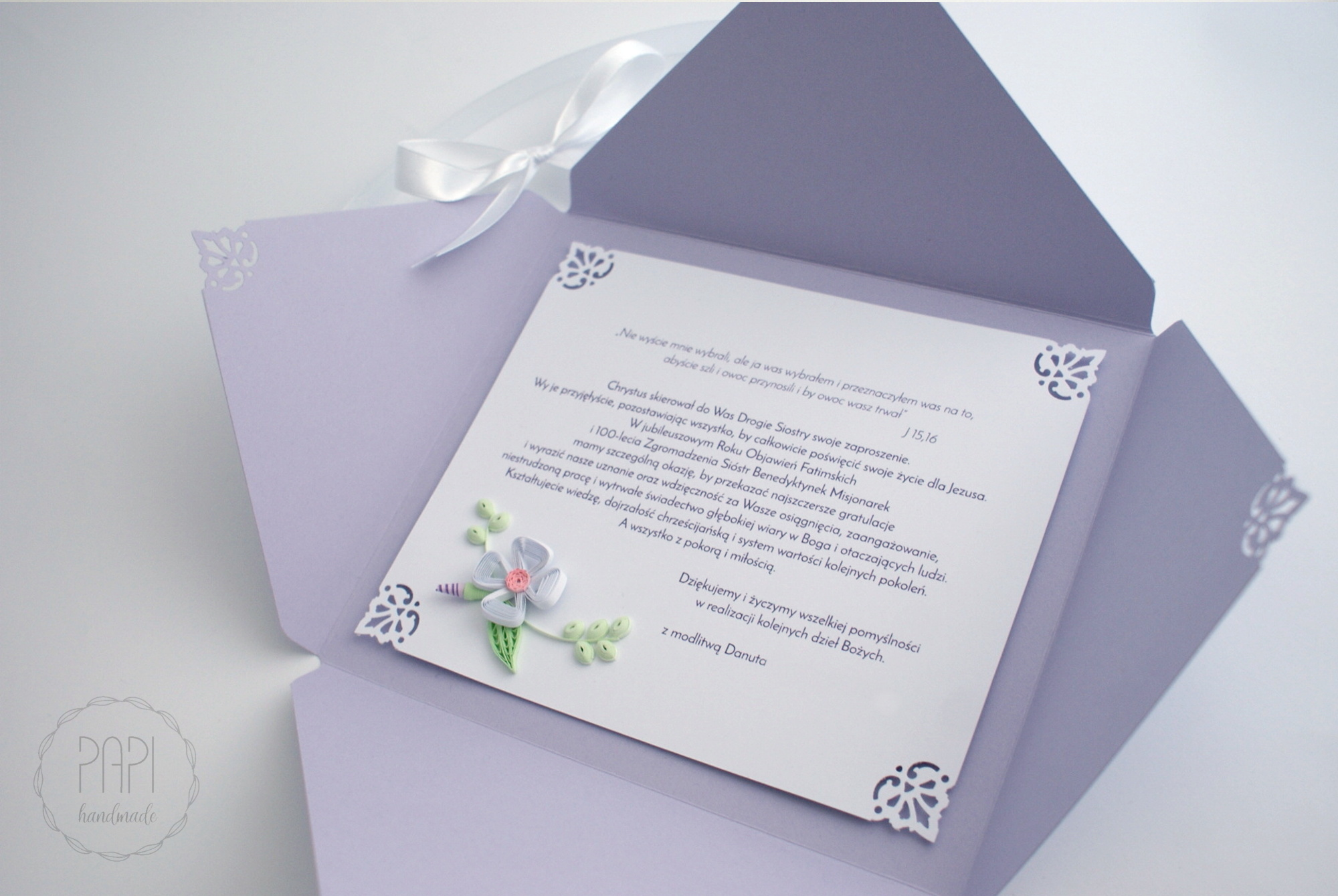 kartka ozdobna quilling gratulacje