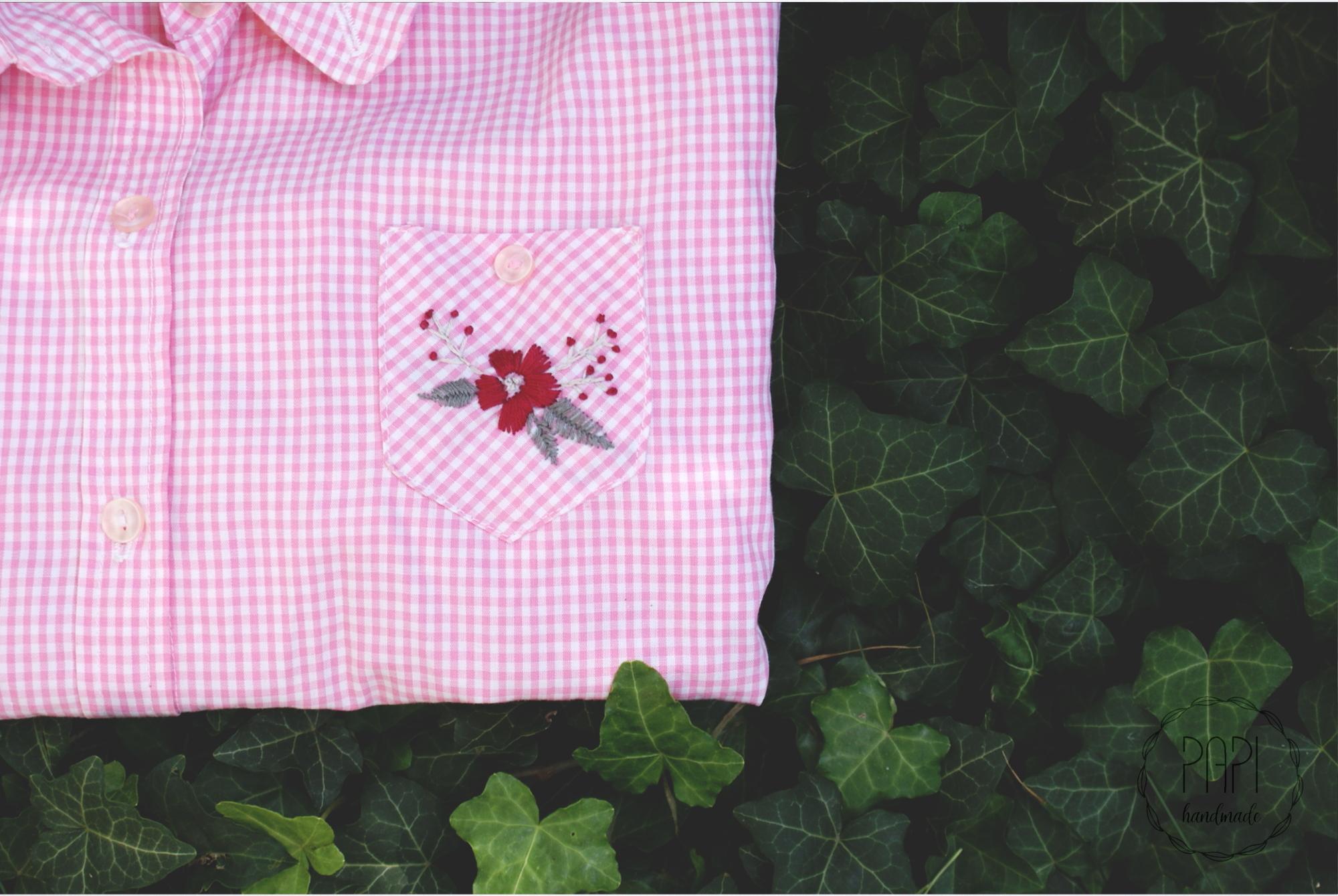 wyszywana ręcznie koszula