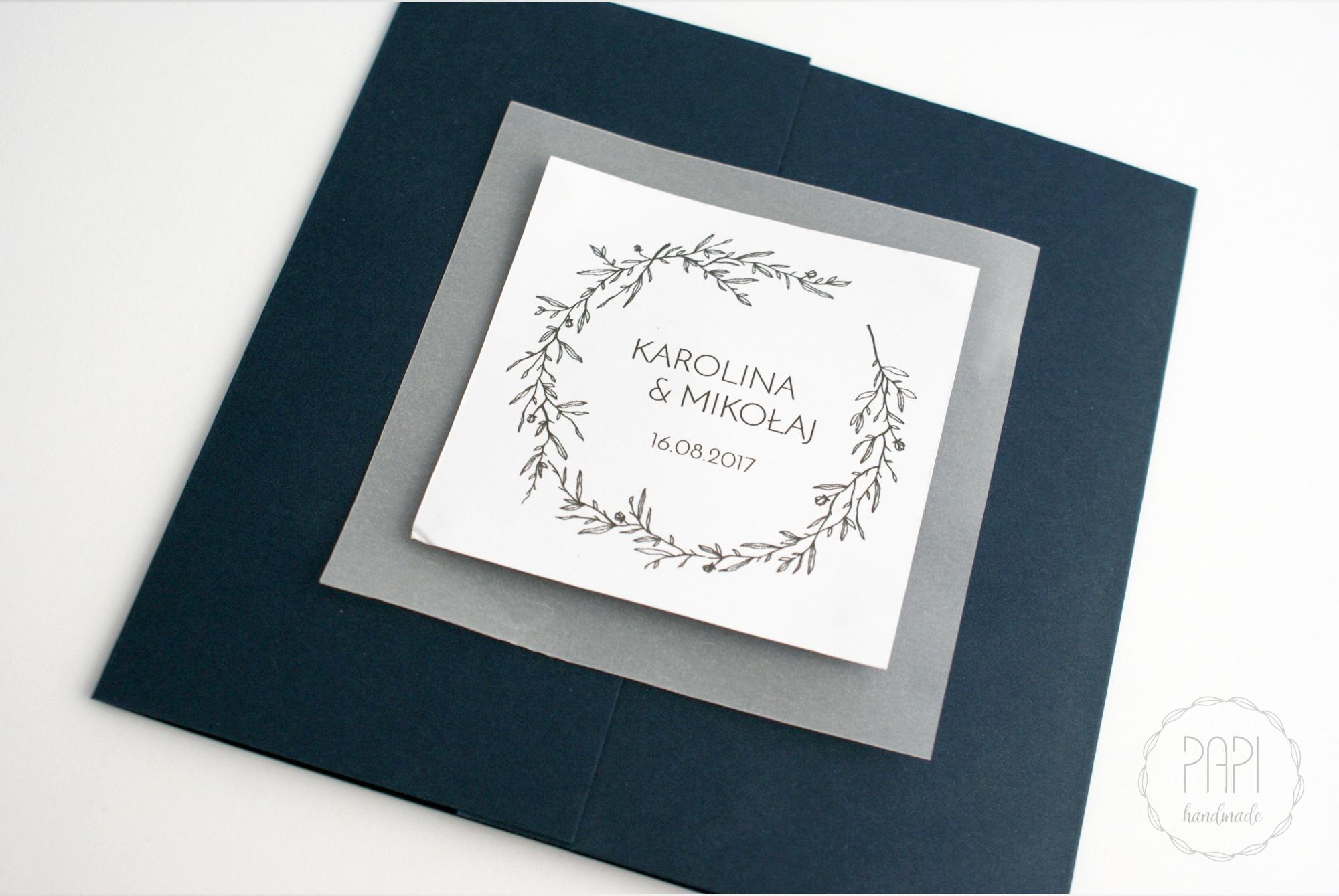 zestaw ślubny zaproszenia minimalistyczne nowoczesne