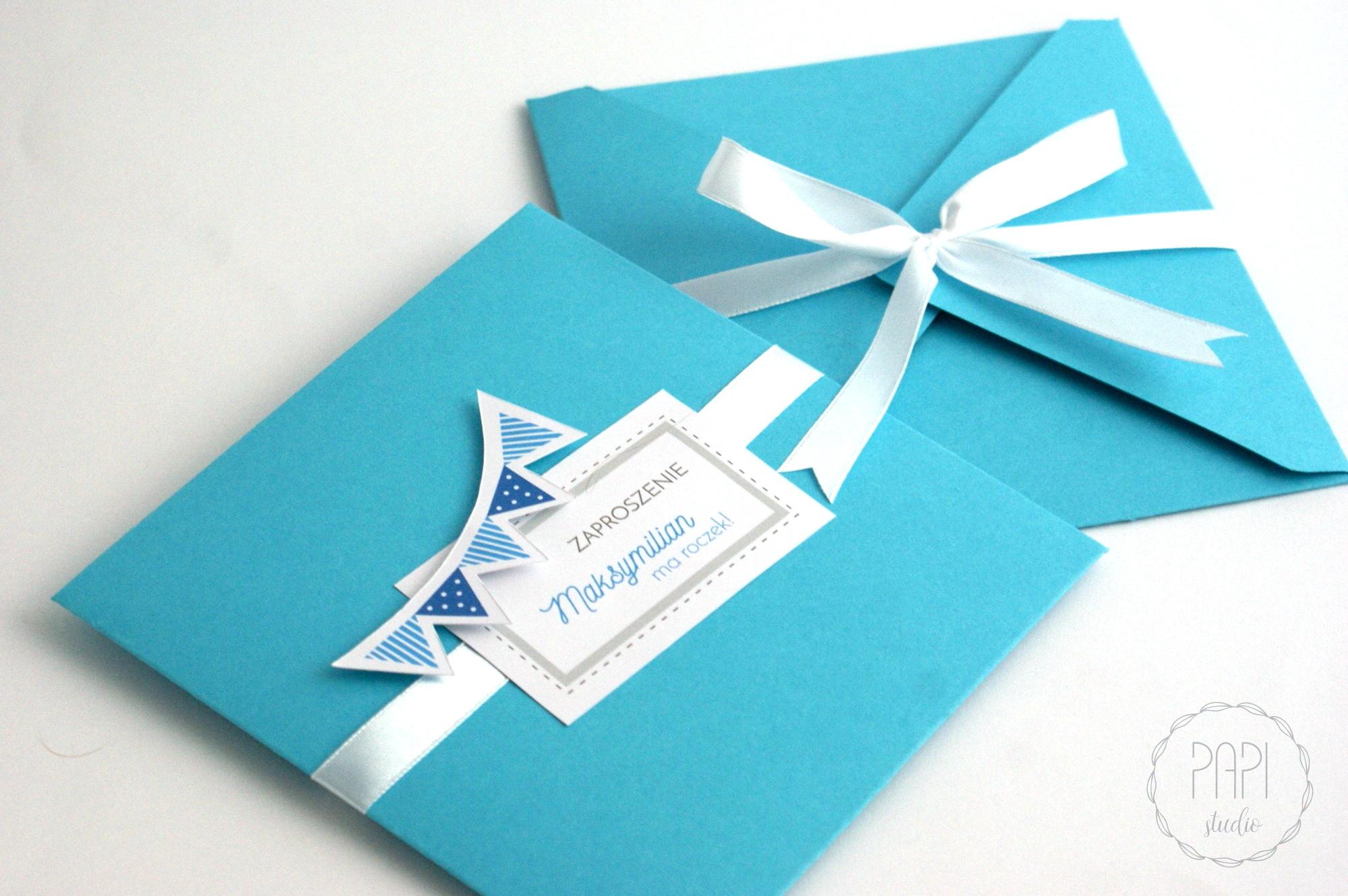 minimalistyczne zaproszenia na roczek ręcznie robione
