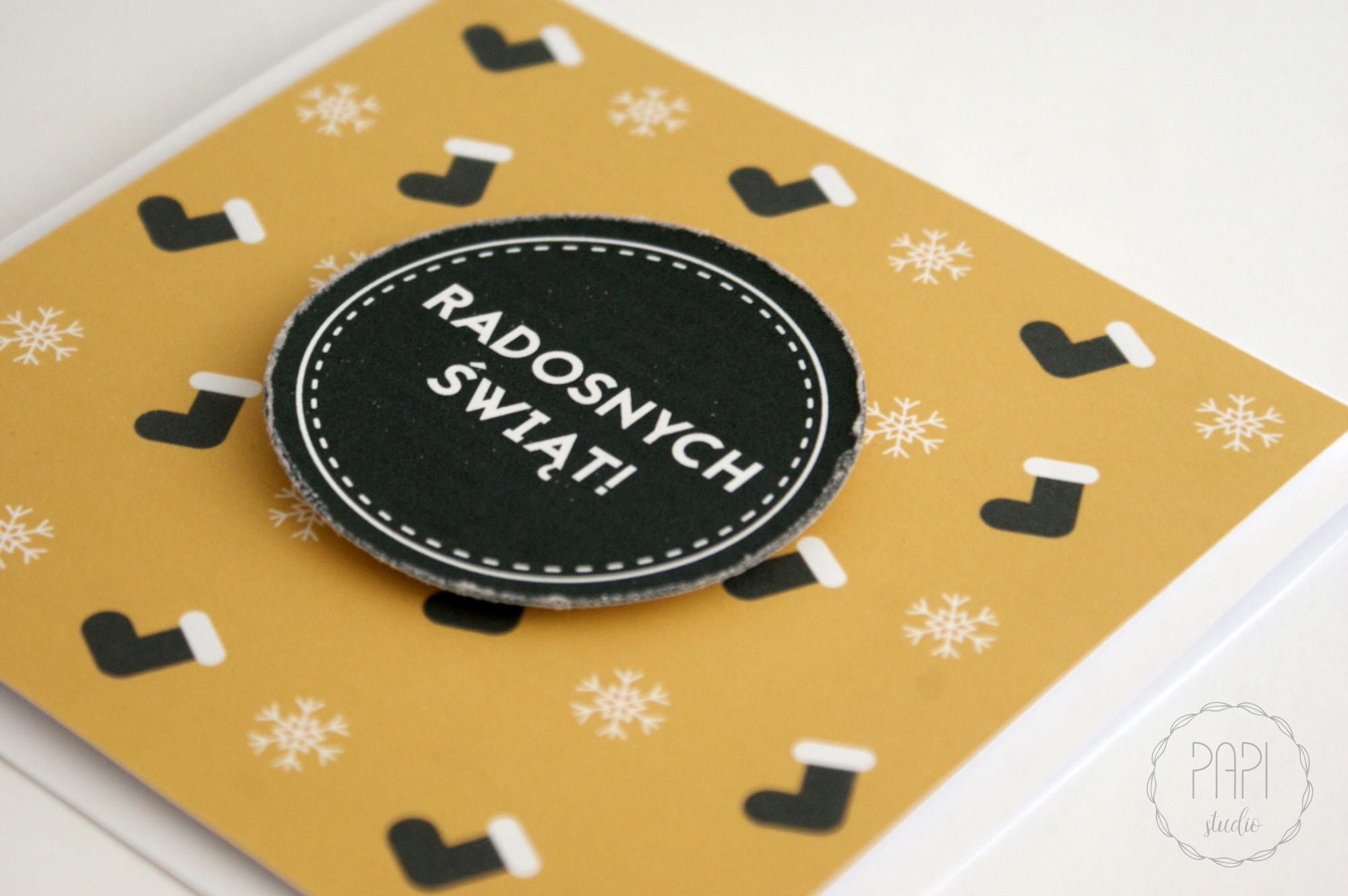 Kartka świąteczna dla przyjaciół handmade