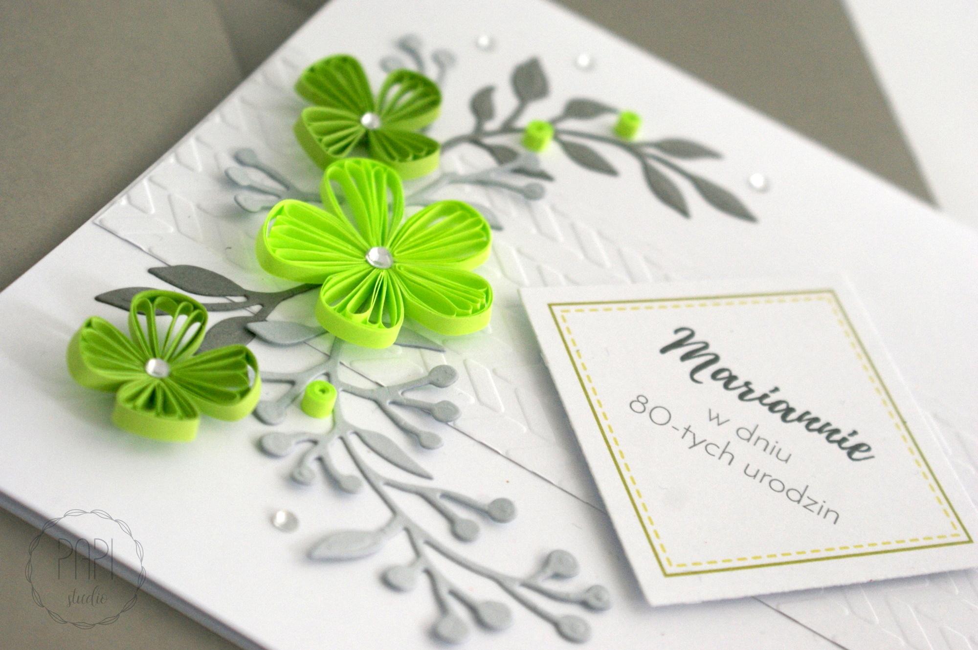 urodzinowa kartka dla babci z kwiatami