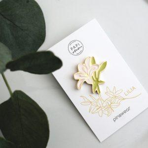 pins lilia broszka pomysł na prezent